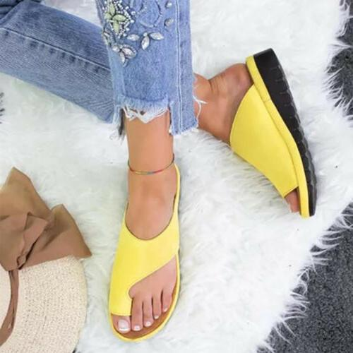 Women Shoes Ring Slippers Ladies Wedge Flip Flops US