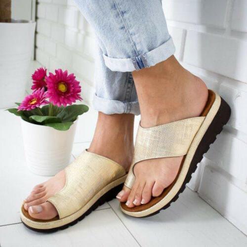 Women Shoes Toe Ring Sandals Ladies Wedge