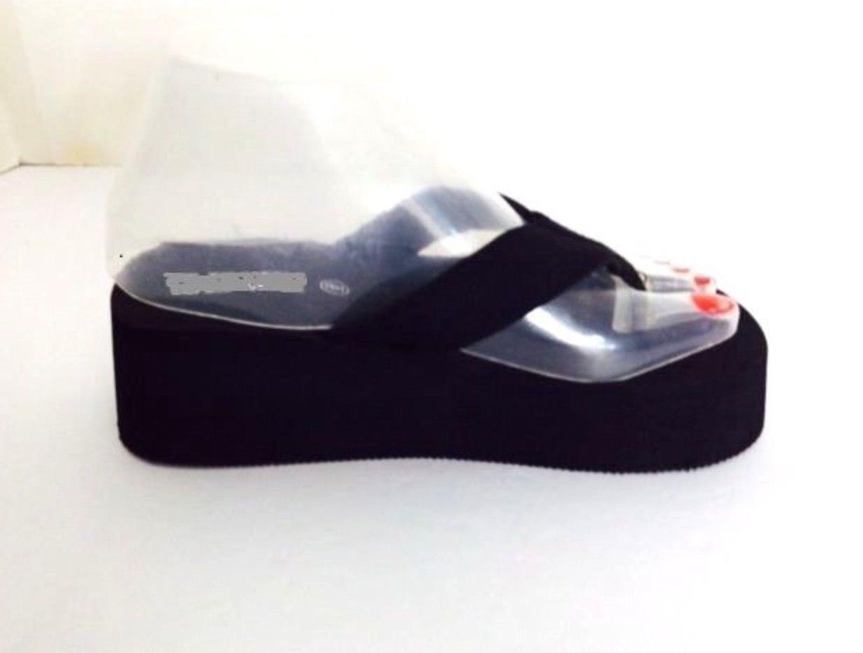 women wedge eva platform flip flops sandals