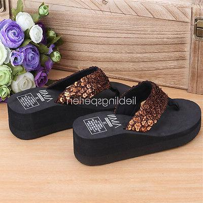 Women Wedge Thong Slippers HS