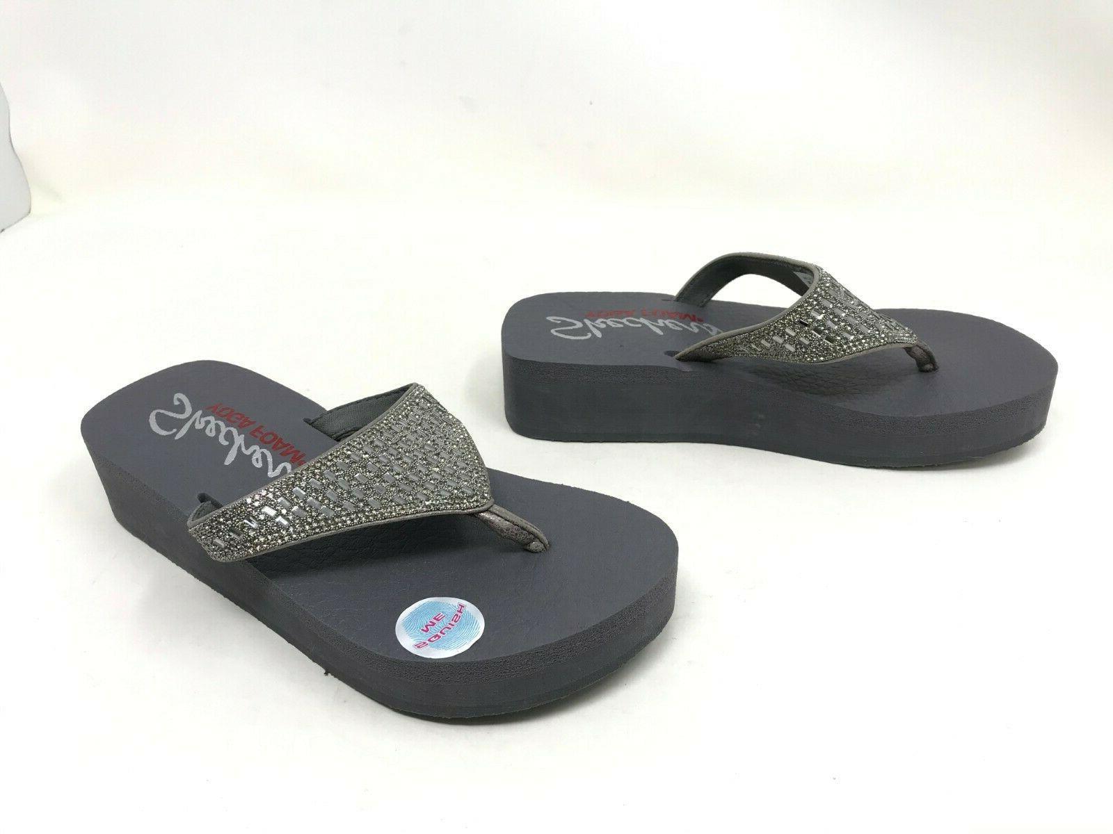 womens 31601 vinyasa pewter flip flops 412e
