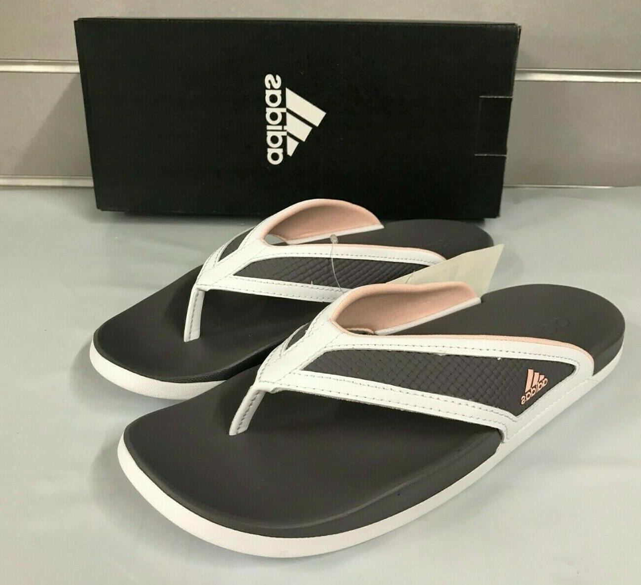 Adidas Womens Adilette CF+Summer Flip Flops GREY/PINK NEW