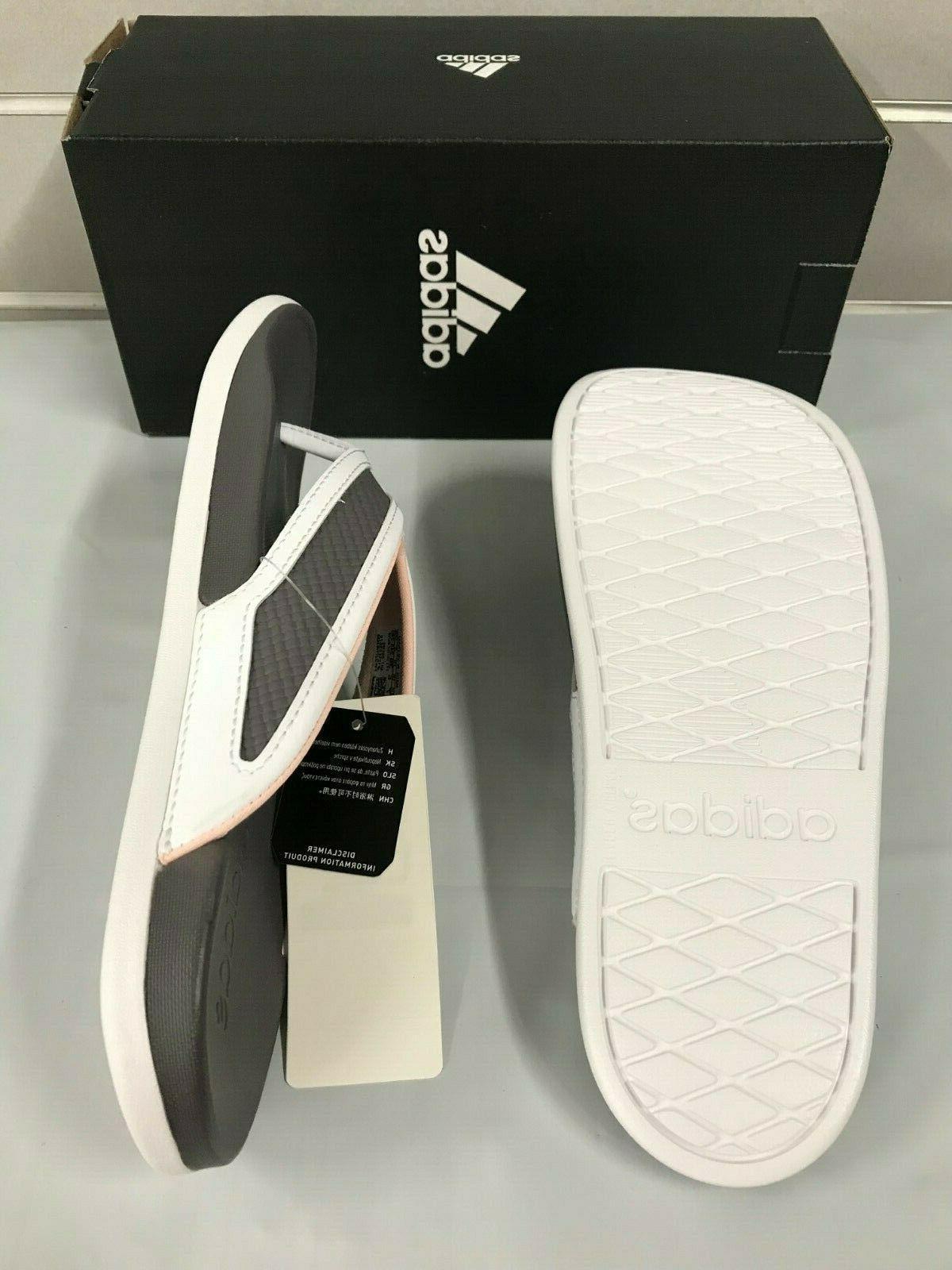 Adidas Flip Flops S81199 Sandals GREY/PINK NEW Sz 6-10