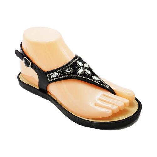 Womens Bling Rhinestone Thong Sandals Flip Flops Summer