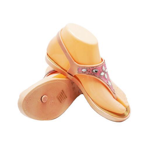 Womens Bling Rhinestone Thong Sandals Flip Flops Summer Flat Sandals