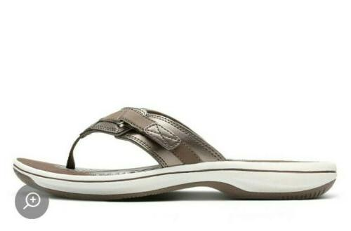 womens breeze sea pewter flip flops comfort