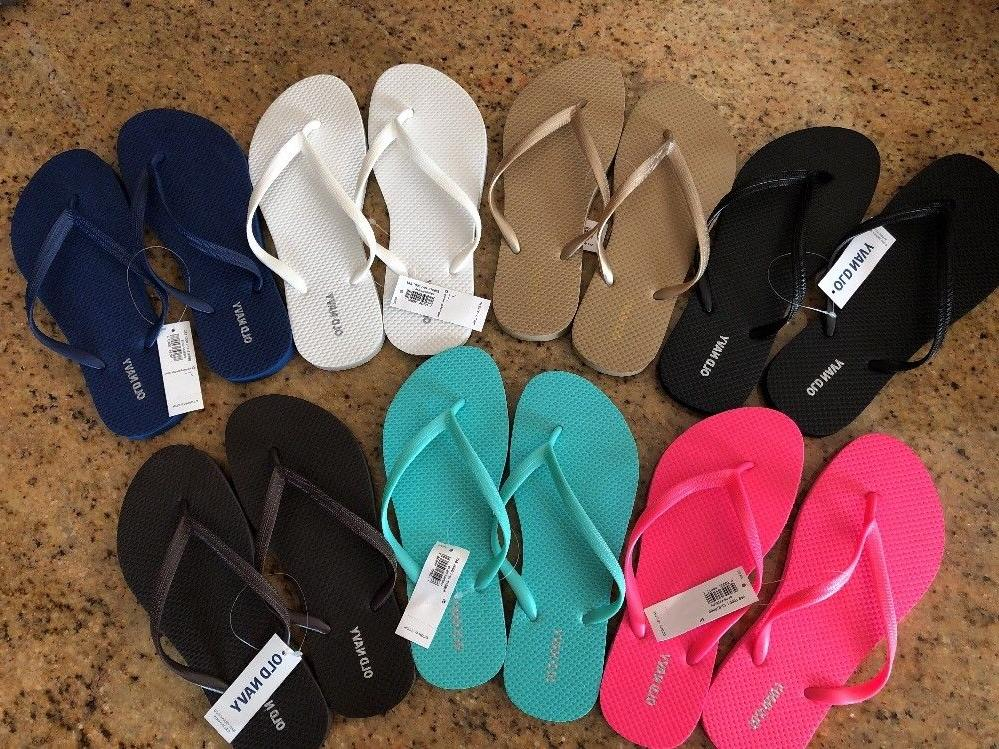 Old Flip Flops Assorted Colors Sizes New 6,7,8
