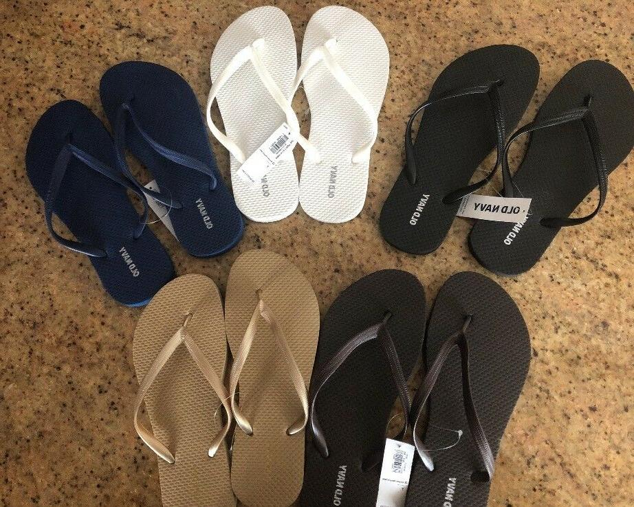 Old Womens Flip Flops Assorted Colors Sizes 6,7,8