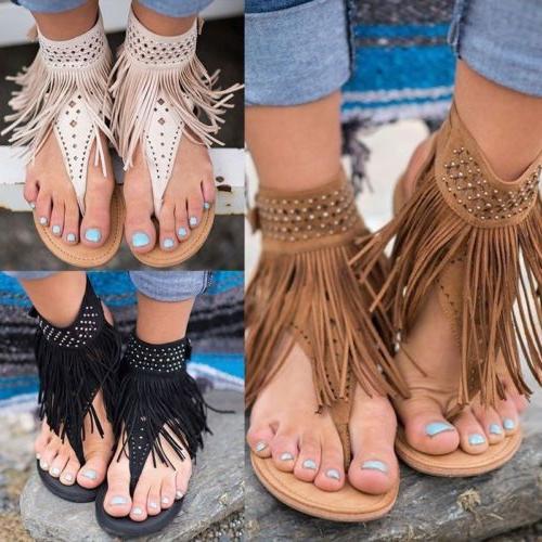 Womens Gladiator Thong Flip Flops T Toe