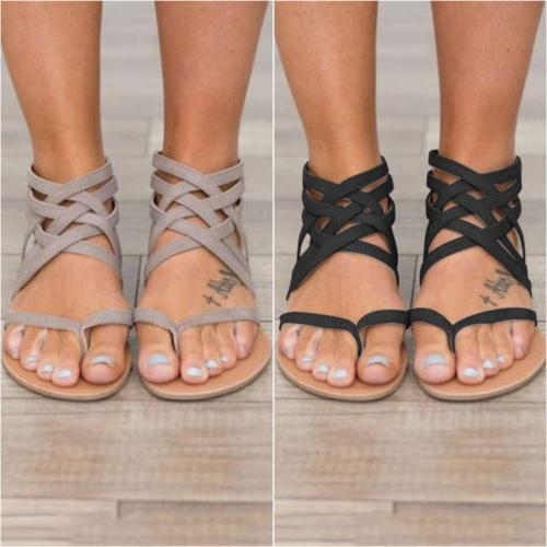 Womens Sandals Shoes Thong Flat T Strap Size Strappy Toe US