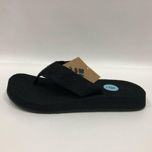 Reef Women's Sandy Flops Sandals Black Sz 6