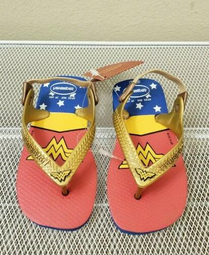 wonder woman girls toddler blue slingback flip