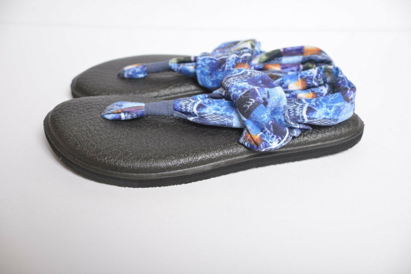 Sanuk Sling Blue Mat Flip Flop Thong Women's 5