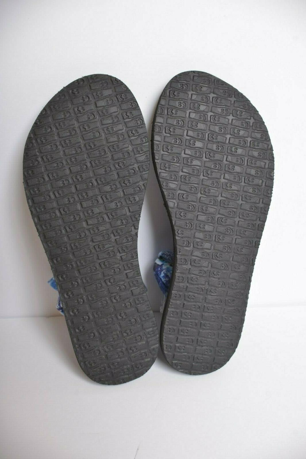 Sanuk Yoga 2 Blue Love Mat Flip Flop Women's size