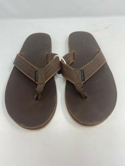 American Eagle Outfitters Leather Flip Flops Sandals Brown S
