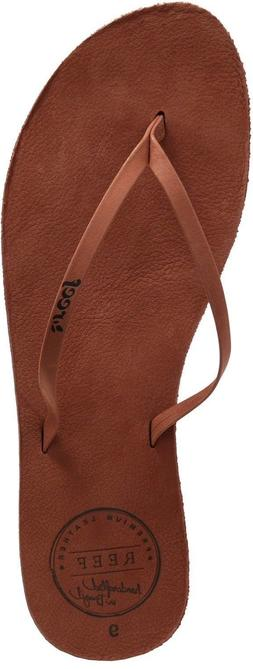 Reef LEATHER UPTOWN Cocoa Leather 1492 Flip Flops Discount W