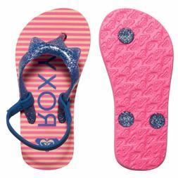 Roxy Little Girls' Fifi Flip Flops Sandals Toddler Baby Jell