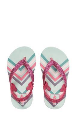 Girl's Reef Little Stargazer Print Flip Flop, Size 2/3 M - B
