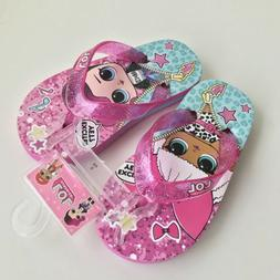 Lol Surprise Dolls Beach Sandals Flip Flops Size 8/9 Toddler