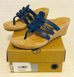 UGG Maddie Women's Wedge Thong Sandal Size 8 US Marine  Le