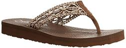Skechers Women's Meditation Ocean Breeze Flip Flop Shoes  -