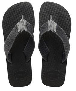 Havaianas Men`s Brazilian Flip Flops Urban Basic Sandals Bla
