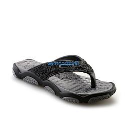 Men's Comfortable Casual Flip Flops Rubber Platform Shower B