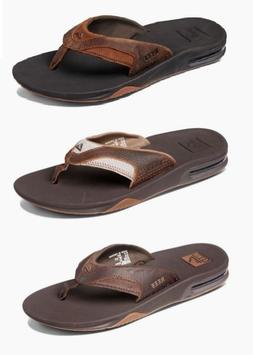 Men's Reef Leather Fanning Bottle Opener Flip Flops