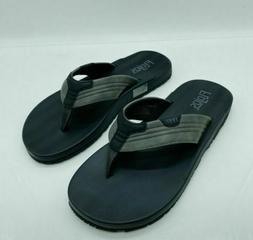 Flojos Men's Memory Foam Thongs Flip Flops Sandals Grey Blac