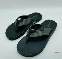 Flojos MEN's Memory Foam Thongs Flip Flops Slide Sandals Gre
