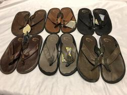 Olukai Men's Ohana Leather Flip Flops Sandals
