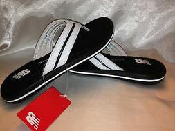 Men's New Balance Shoes Flip Flops Cruz Memory Foam Thong Bl