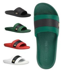 LACOSTE MEN'S SLIP ON CROCO SLIDE 0120 1 SANDALS FLIP FLOPS