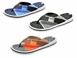 MEN'S SPORTS SANDALS THONG FLIP FLOPS BEACH POOL INDOOR OUTD