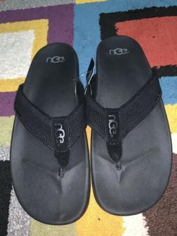 Men's UGG Tenoch HyperWeave Logo Fashion Flip Flops Sandals