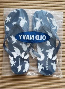 Old Navy Men's Turtle Tortoise Flip Flops Size 12/13 Brand N