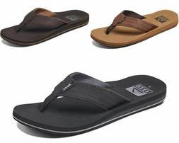 Reef Men's Twinpin Lux Black , Brown , Tan Summer Flipflop S