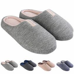 Men's Women's Cozy Fleece House Slippers Slip-on Shoes Winte