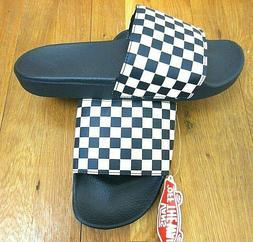 Vans Mens Checkerboard Logo Dress Blues White Slides Flip Fl