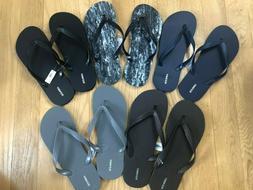 Old Navy Mens Classic Black Brown Blue Flip Flops Size 10/11