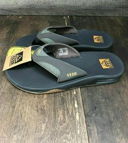 Mens REEF Fanning Flip Flops Sandals  Brown NEW Bottle Opene