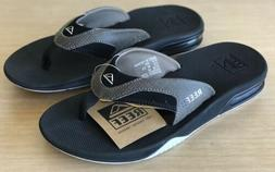Mens Reef Fanning Navy / White Sandals Flip Flops Size 12 Bo