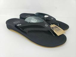 Reef Mens Flex Black Silver Flip Flops Sandals Size 11 NEW