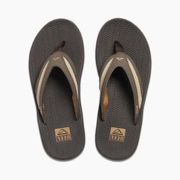 Reef Mens Flex Sandal Flip Flops Dark Brown Tan Khaki Size 1