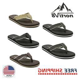 NORTIV 8 Mens Flip Flops Beach Sandals Lightweight EVA Sole