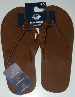 Dockers Mens Flip Flops Premium Quality XL Size 11-12 Brown