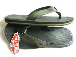 Vans Mens Nexpa Synthetic Camo Black Green Flip Flops Sandal