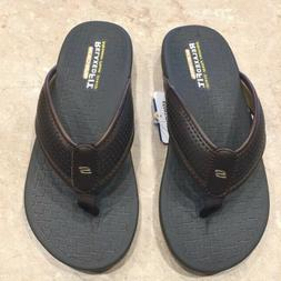 Skechers Mens Relaxed Fit Memory Foam 360 Sandals Flip Flo