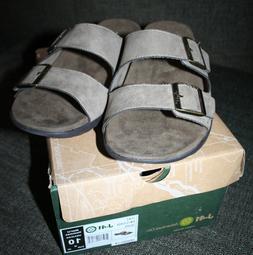 Mens Size 10M J-41 brand JUNO Taupe VEGAN Slide Sandal ~ KM1
