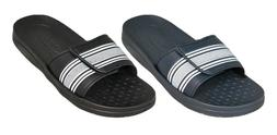 MENS SLIP ON SPORT SLIDE SANDALS ADJUSTABLE FLIP FLOPS SLIPP